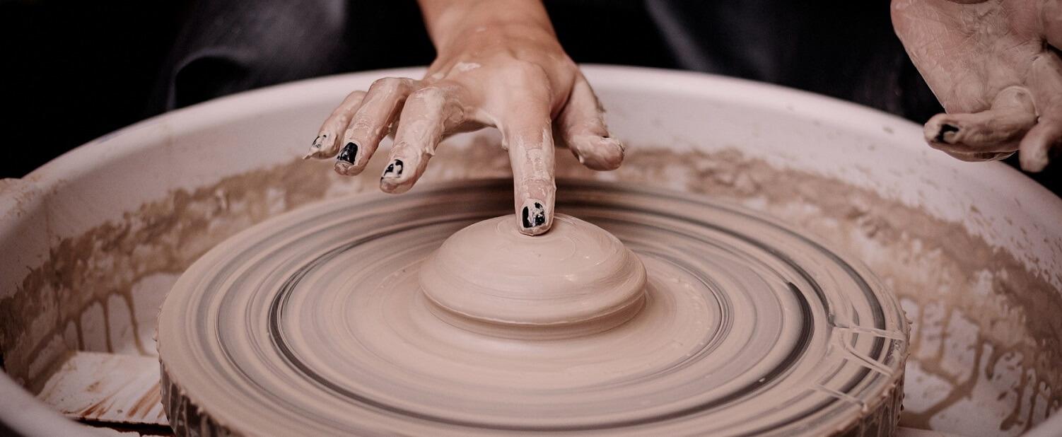 центровка глины